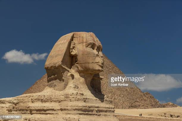 the sphinx and the giza pyramids, cairo, egypt - unesco world heritage site stock pictures, royalty-free photos & images
