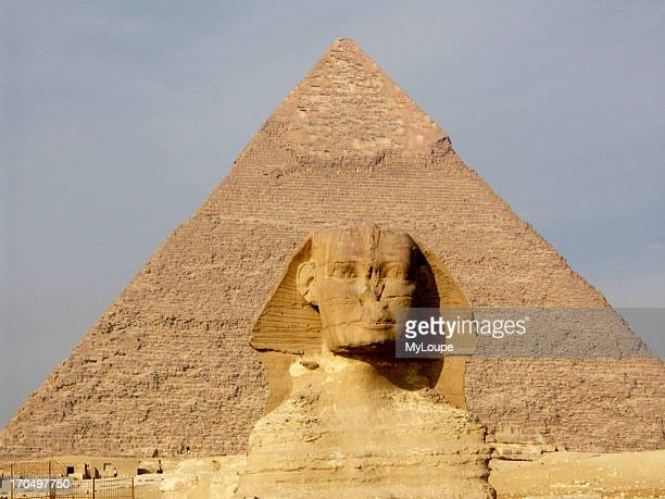 The Sphinx And The Great Pyramid Of Khefren Khafre At Giza Egypt The Sphinx Is One Of The Most Easily Recognized Symbols Of Ancient Egypt It Is Part...