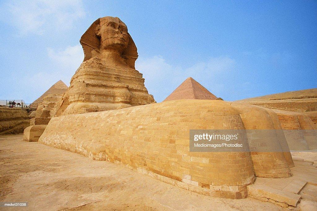 The Sphinx at the Giza pyramid of Chephren, Egypt : Stock Photo