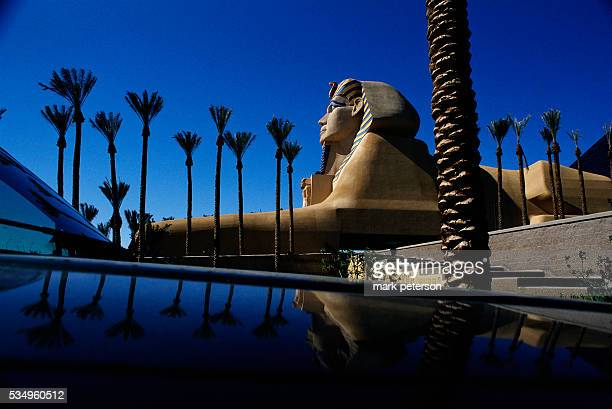 The sphinx at the Luxor Las Vegas hotel and casino   Located in MGM Grand Hotel and Casino