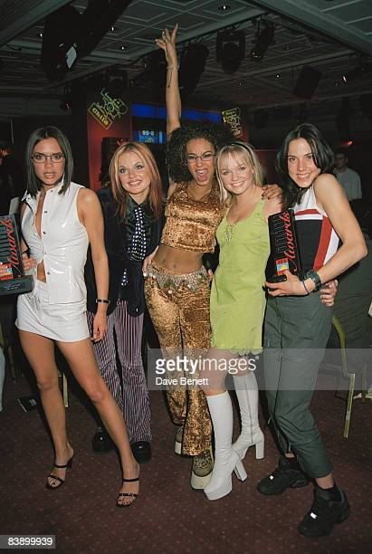The Spice Girls at the Capital Radio awards 26th March 1997 From left to right Posh Ginger Scary Baby and Sporty