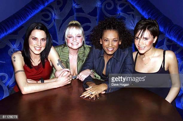 The Spice Girls L to R Melanie Chisholm Emma Bunton Melanie Brown and Victoria Adams