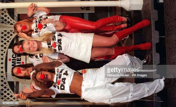 The Spice Girls Mel B Victoria Mel C Geri and Emma help launch the sixth Red Nose Day in London this morning Profits from the group's latest single...