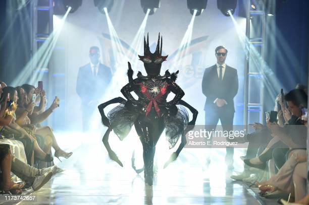 The Spider participates in a runway show for the premiere of Fox's The Masked Singer Season 2 at The Bazaar at the SLS Hotel Beverly Hills on...