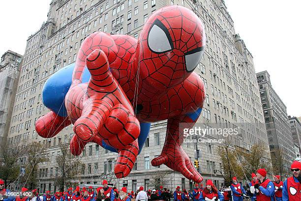 The Spiderman balloon at the 88th Annual Macy's Thanksgiving Day Parade on November 27 2014 in New York City