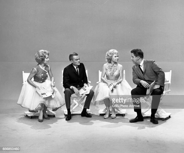 The Spike Jones Show a musical comedy television program Pictured from left here is singer Helen Grayco Spike Jone comedienne Joyce Jameson comedian...