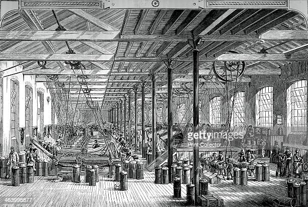 The spinning room in the Shadwell rope works c1880 A print from Great Industries of Great Britain Volume I published by Cassell Petter and Galpin