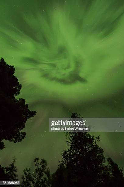the spiral eye of the northern lights - marginata stock pictures, royalty-free photos & images