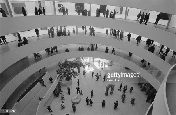 The spiral interior of the Solomon R Guggenheim Museum in New York, designed by Frank Lloyd Wright.