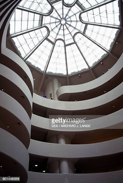 The spiral ramp inside the Guggenheim Museum architect Frank Lloyd Wright United States of America 20th century