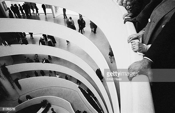 The spiral structure of the Solomon R Guggenheim Museum in New York designed by Frank Lloyd Wright