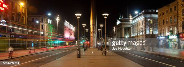 The Spire and O'Connell Street by Night