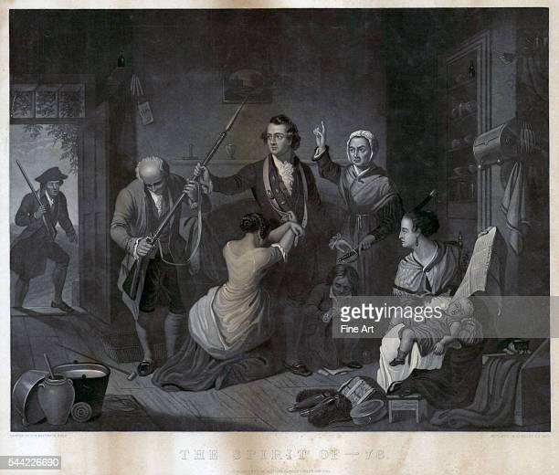 The spirit of 76 engraving by HS Sadd from a painting by Tompkins Harrison Matteson Published by John Neale New York 1847 375 x 48 cm Depicts an...