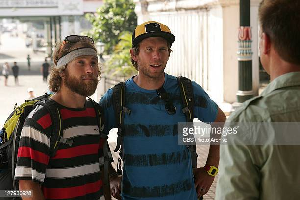 The Spirit of Our Life -- Pro Snowboarders Andy and Tommy meet host Phil Keoghan at the Pit Stop at the Kraton Place in Indonesia on THE AMAZING...
