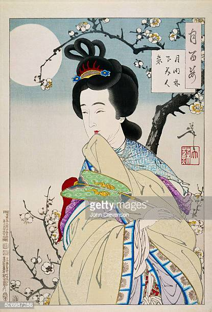 The Spirit of the Plum Tree who appeared to a Chinese poet of the Sui dynasty Pictures of Chinese beauties were a favorite subject for Japanese...