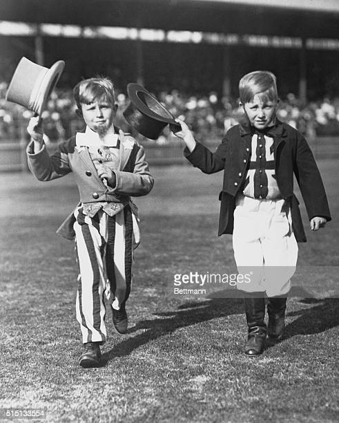 The spirit of the visit of our American Sailors in Sydney Australia was well symbolized by these two youngsters at the school children's fleet...