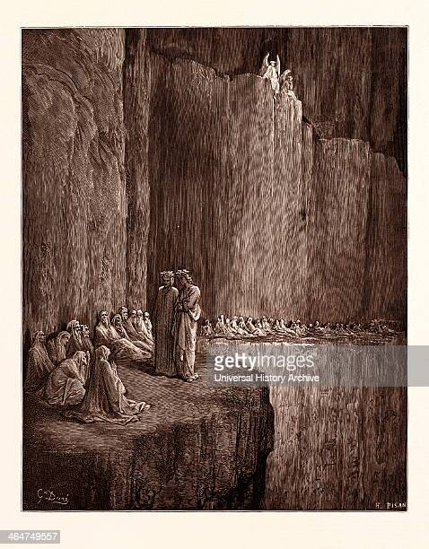The Spirits Of The Envious, By Gustave Dore. Dore, 1832 - 1883, French. Engraving For The Purgatorio Or Purgatory By Dante Alighieri. 1870, Art,...