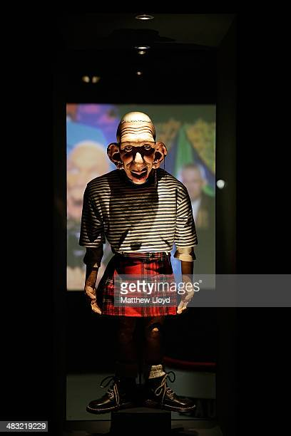 The Spitting Image puppet in the Jean Paul Gaultier From the Sidewalk to the Catwalk' exhibition at the Barbican Art Gallery on April 7 2014 in...