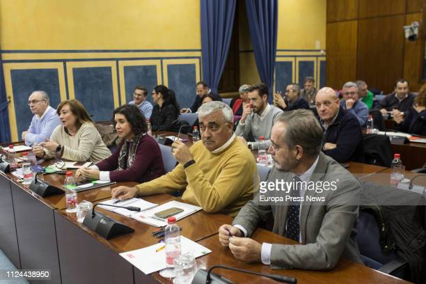The spokesman of the PSOE Parliamentary Group of Andalusia Mario Jimenez attends the press on January 24 2019 in Sevilla Spain