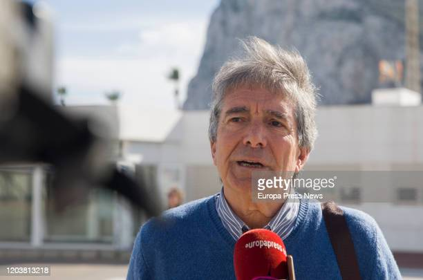 The spokesman of the Spanish Workers Association in Gibraltar Juan Jose Uceda during an interview with Europa Press in La Linea de la Concepcion on...