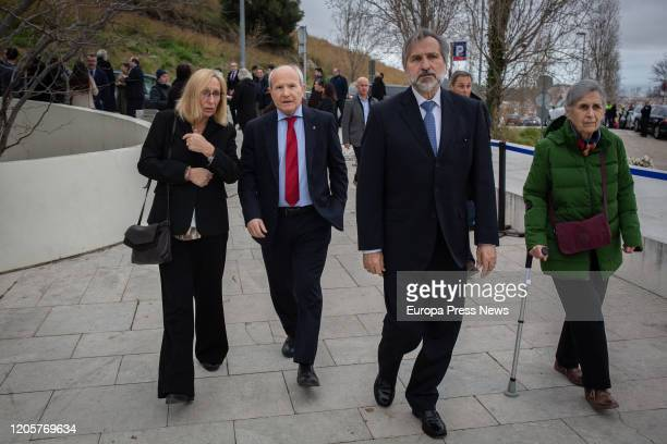 The spokeswoman of PSC in the Health Commission of the parliament of Cataluña Assumpta Escarp and the former president of Cataluña Jose Montilla...