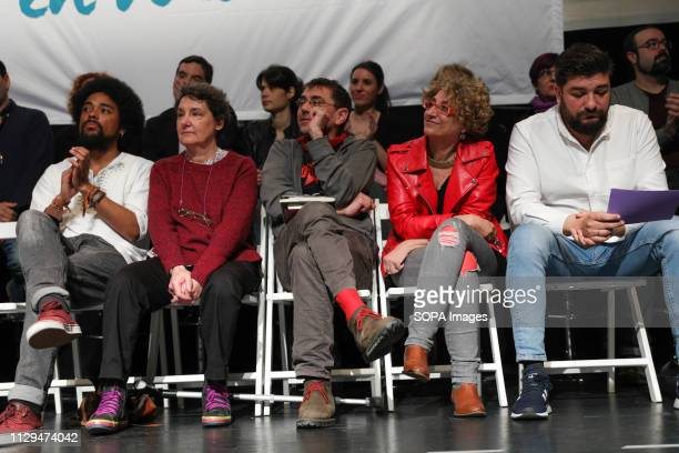 The spokeswoman of Unidas Podemos in the Congress was accompanied by Isa Serra candidate of Podemos for the Community of Madrid and Jesús Santos...