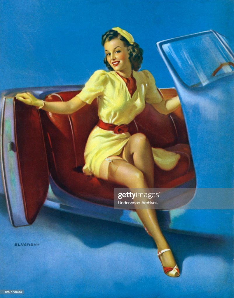 Gil elvgrens pin up girl pictures getty images the sport model one of famed pinup artist gil elvgrens paintings 1943 thecheapjerseys Images