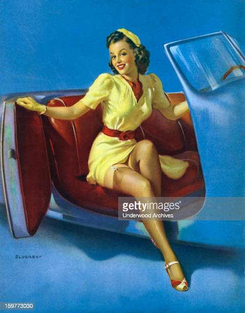 The Sport Model One of famed pinup artist Gil Elvgren's paintings 1943
