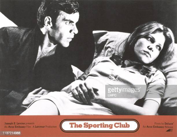 The Sporting Club US lobbycard from left Robert Fields Margaret Blye 1971