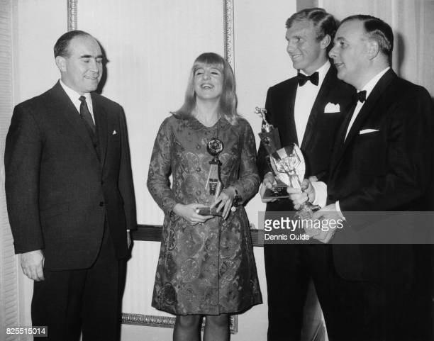 The Sportsman and Sportswoman of the Year awards at the Cafe Royal in London 13th December 1966 From left to right Alf Ramsey English swimmer Linda...