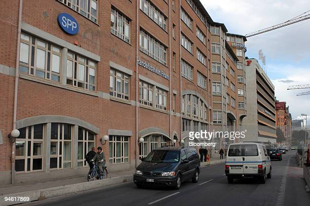 The SPP logo hangs outside the company's headquarters in Stockholm Sweden on Monday Sept 3 2007 Storebrand ASA Norway's largest publicly traded...