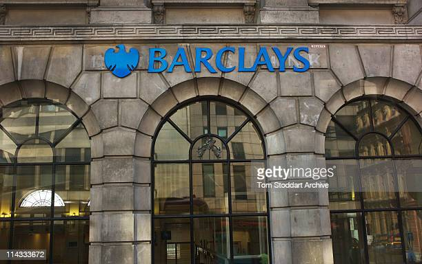 The spread eagle emblem of Barclays Bank at the Fleet Street branch in London 25th March 2011 The Eagle has consistently been used as an easily...
