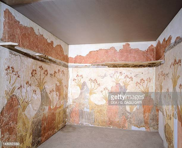 The spring Akrotiri fresco Thera Minoan Civilization 16th Century BC Athens Ethnikó Arheologikó Moussío