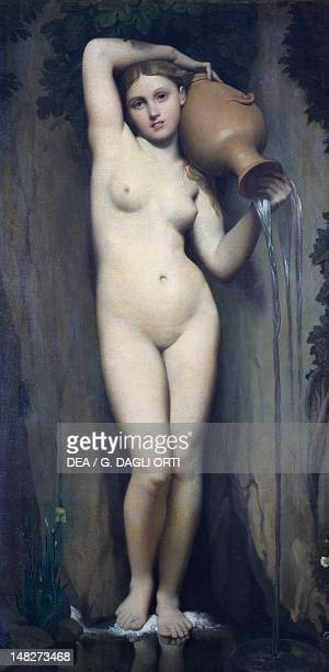 The spring by Jean Auguste Dominique Ingres oil on canvas 164x82 cm Paris Musée Du Louvre