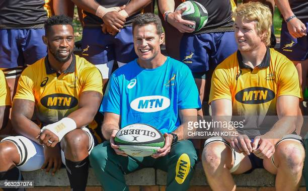 The Springboks' flanker Siya Kolisi the first black Test captain who will lead South Africa in a threeTest series against England in June new coach...
