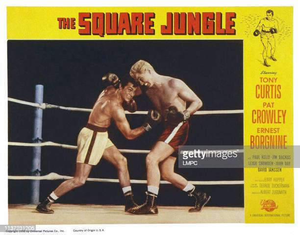 The Square Jungle US lobbycard from left Tony Curtis John Daheim 1955