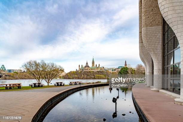 the square of canadian museum of history, gatineau, canada (musée canadien de l'histoire) - history museum stock pictures, royalty-free photos & images