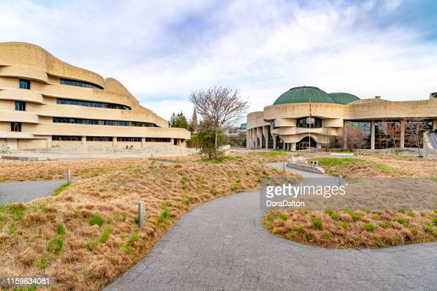 the square of canadian museum of history, gatineau, canada (musée canadien de l'histoire) - gatineau stock pictures, royalty-free photos & images