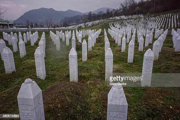 SREBRENICA BOSNIA FEBRUARY 22 The Srebrenica memorial officially known as the SrebrenicaPotoari Memorial and Cemetery for the VIctims of the 1995...