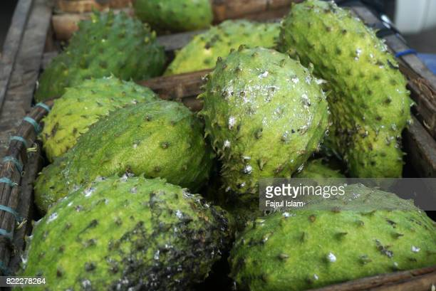 The Srikaya Fruit or sugar-apple, a tropical fruit from the Annona genus