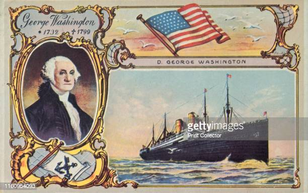 The SS 'George Washington' circa 1910 German passenger ship launched in 1908 named after the first US president George Washington and operated by the...