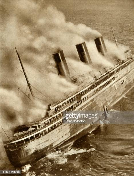 The SS 'L'Atlantique' on fire 'L'Atlantique' caught fire off the coast of France on the way to be refitted The crew abandoned ship and 'L'Atlantique'...