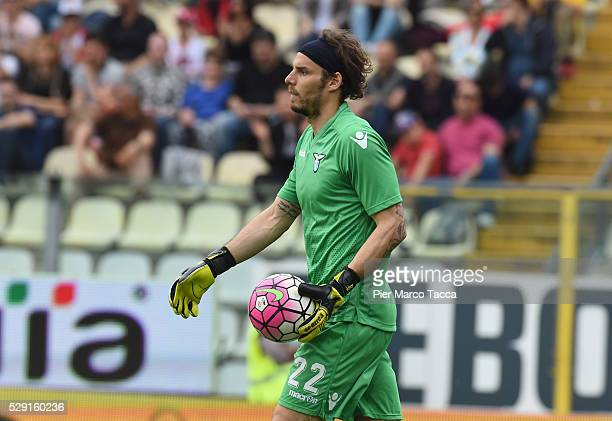 The SS Lazio goalkeeper Federico Marchetti looks during the Serie A match between Carpi FC and SS Lazio at Alberto Braglia Stadium on May 8 2016 in...
