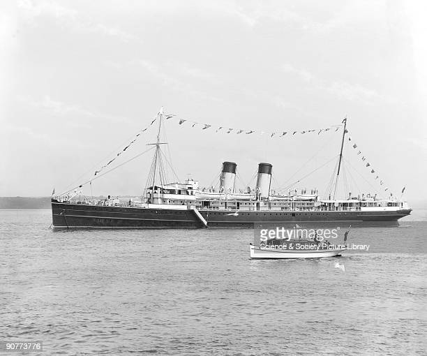 The SS Scotia at Caernarfon Gwynedd Wales The Scotia was built in 1902 and was used on the Heysham to Isle of Man service and the Holyhead to Dublin...