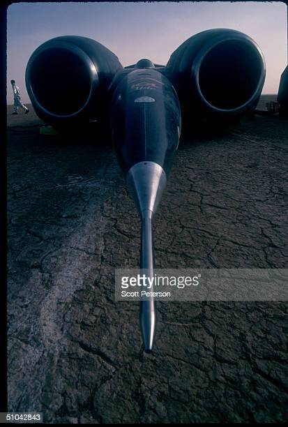 The Ssc Thrust Prepares To Take Off November 16 1996 On The AlJafr Desert In Jordan Raf Lt Andy Green Will Attempt To Break The Speed Of Sound...