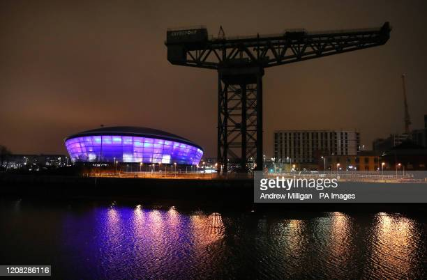 The SSE Hydro in Glasgow is lit up in blue in a gesture of thanks to the hardworking NHS staff who are trying to battle coronavirus A national salute...