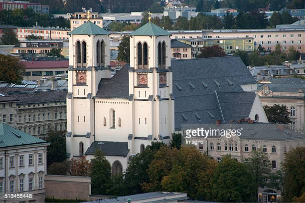 The St Andrew's Church on Mirabell Square in Salzburg By Gerhard Trumler