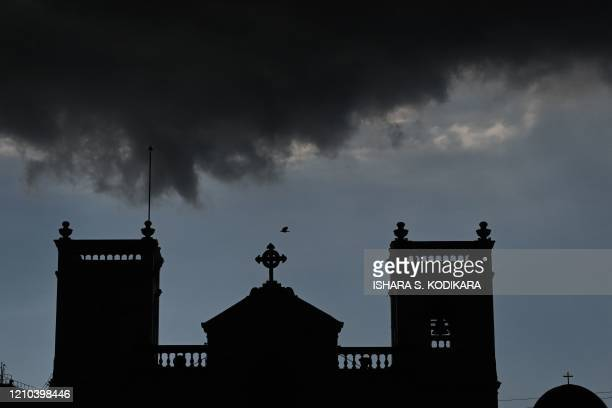 The St Anthony's church is seen as monsoon clouds approach during a governmentimposed nationwide lockdown as a preventive measure against the COVID19...