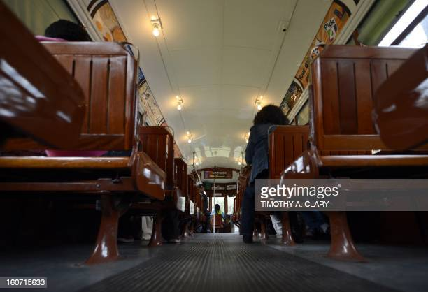 The St Charles line streetcar in New Orleans Louisiana February 4 which travels from the edge of the French Quarter all the way down beautiful St...