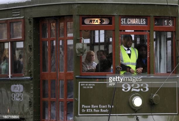 The St Charles streetcar line in New Orleans Louisiana February 4 2013 which travels from the edge of the French Quarter all the way down beautiful...